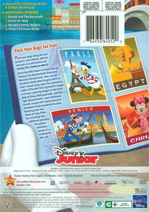 Mickey Mouse Clubhouse: Around The Clubhouse World (DVD ...