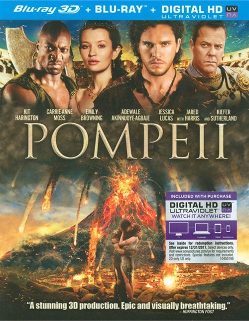 Pompeii (Blu-ray 3D + Blu-ray + UltraViolet)