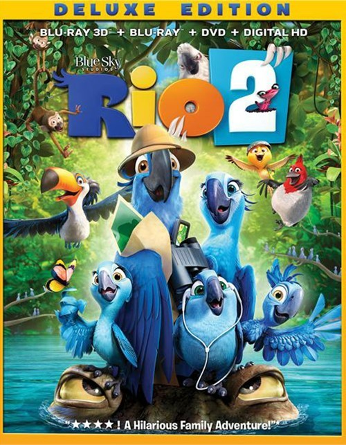 Rio 2 3D: Deluxe Edition (Blu-ray 3D + Blu-ray + DVD + UltraViolet)