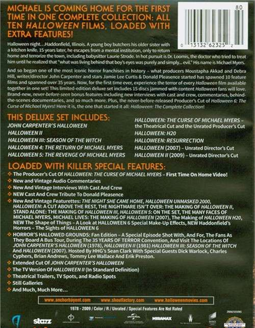 Halloween: The Complete Collection - Deluxe Edition (Blu ...