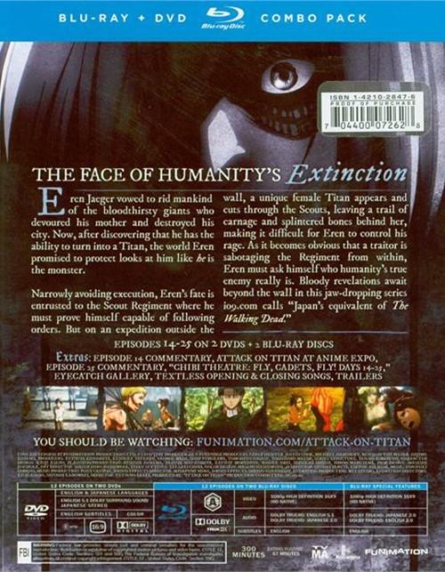 Attack On Titan: Part 2 (Blu-ray + DVD) (Blu-ray )   DVD Empire