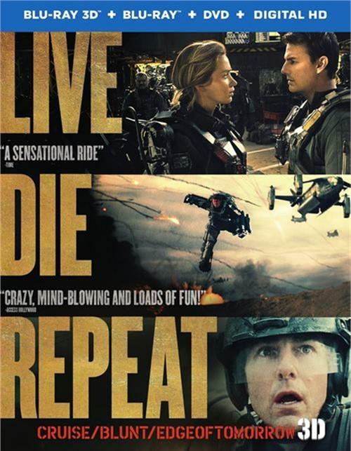 Live Die Repeat: Edge Of Tomorrow (Blu-ray 3D + Blu-ray + DVD + UltraViolet)