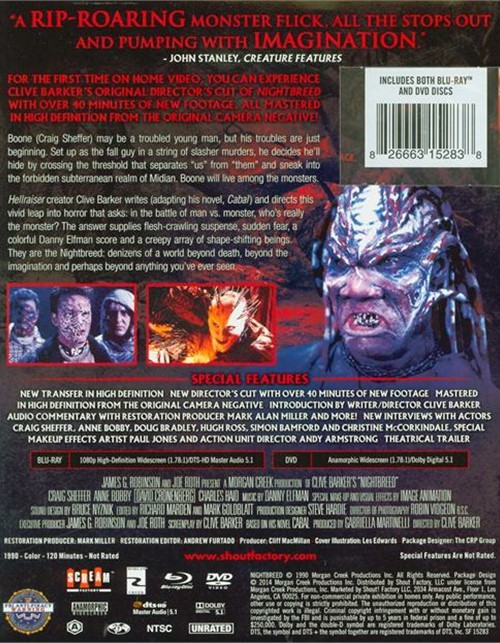 nightbreed the directors cut bluray dvd combo blu