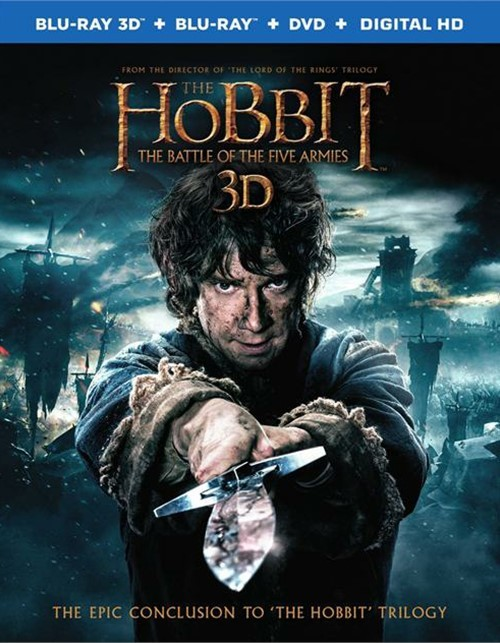 Hobbit, The : The Battle Of The Five Armies (Blu-ray 3D + Blu-ray + DVD + UltraViolet)