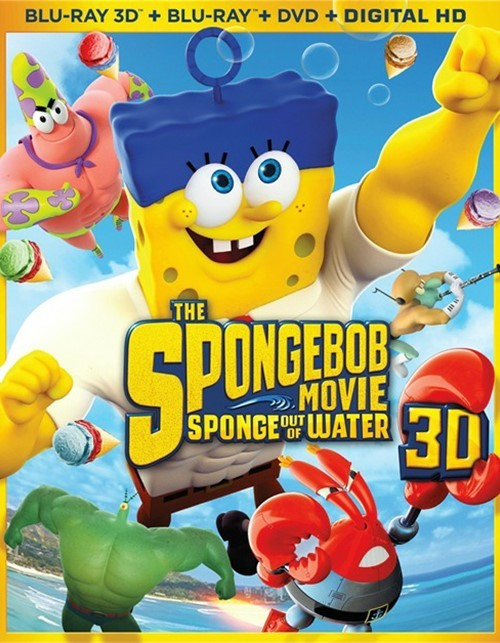 SpongeBob Movie, The: Sponge Out Of Water (Blu-ray 3D + Blu-ray + DVD + UltraViolet)