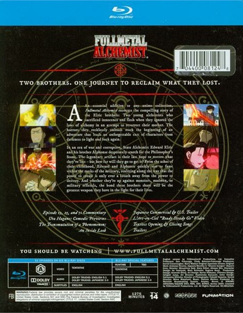 Fullmetal Alchemist: The Complete Series (Blu-ray 2003 ...