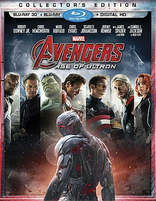 Avengers: Age Of Ultron (Blu-ray 3D + Blu-ray + DVD + Digital HD)