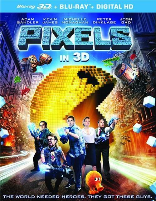 Pixels (Blu-ray 3D + Blu-ray + DVD + UltraViolet)