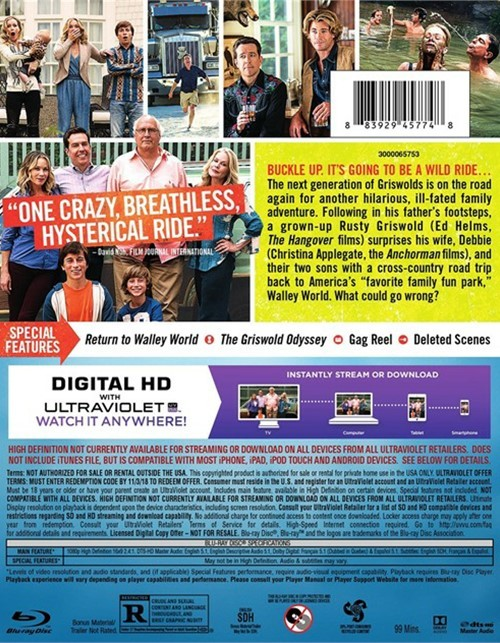 Vacation Dvd Empire: Vacation (Blu-ray + DVD + UltraViolet) (Blu-ray 2015
