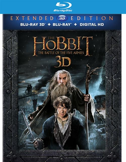 Hobbit, The: The Battle Of The Five Armies - Extended Edition (Blu-ray 3D + Blu-ray + UltraViolet)
