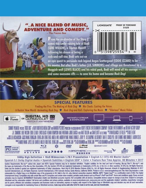 Rock Dog (Blu-ray + DVD Combo + UltraViolet) (Blu-ray 2016