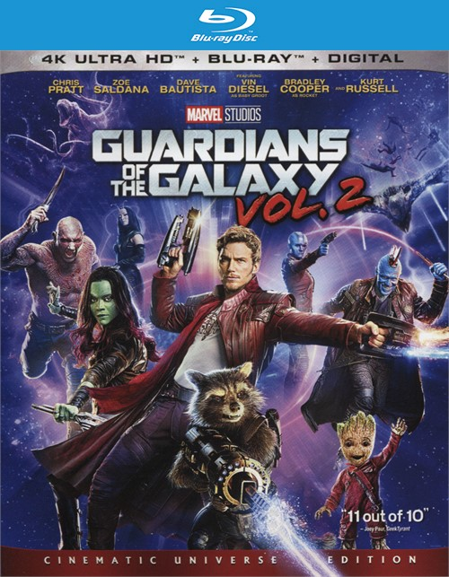 Guardians of the Galaxy Vol. 2 (4k Ultra HD + Blu-ray + UltraViolet)