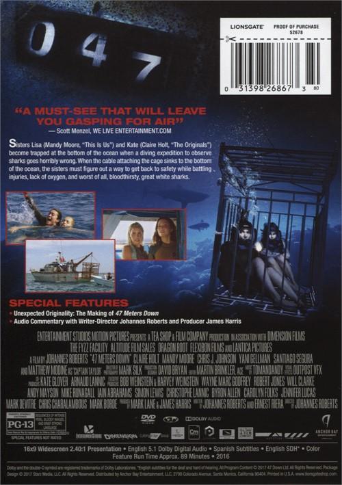 47 Meters Down (DVD 2017) | DVD Empire