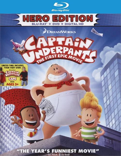 Captain Underpants: First Epic Movie - Hero Edition(Blu-ray + DVD Digital HD Combo)