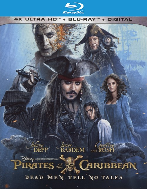 Pirates Of The Caribbean: Dead Men Tell No Tales (4k Ultra HD + Blu-ray + UltraViolet)