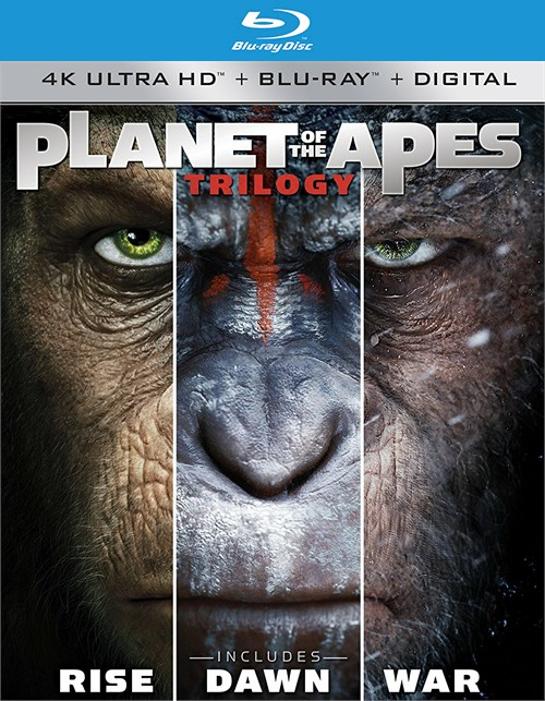 Planet of the Apes: The Complete Trilogy (4k Ultra HD + Blu-ray + UltraViolet)