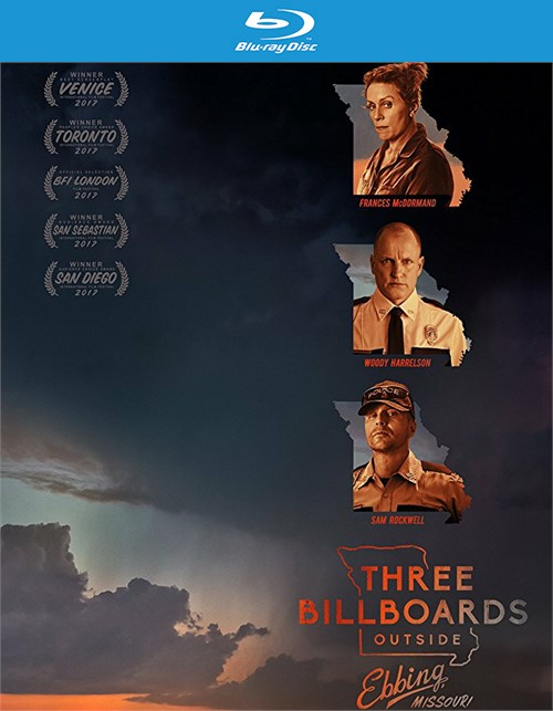 Three Billboards Outside Ebbing, Missouri (Blu-ray + DVD + Digital HD)