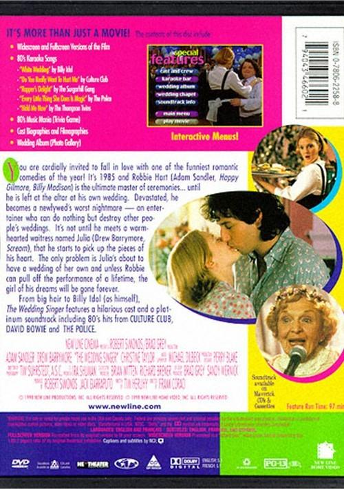 Wedding Singer, The (DVD 1998)