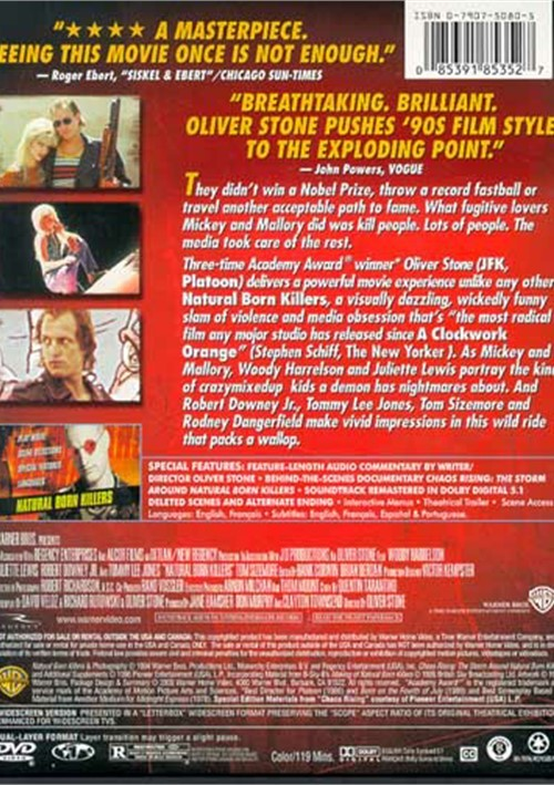 a review the film natural born killers by oliver stone Natural born killers (1994) full movie online on fmovies  natural born killers oliver stone robert downey jr tom sizemore tommy lee jones woody harrelson.