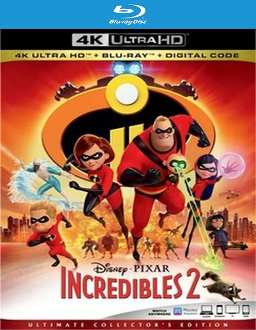 Incredibles 2 (2Blu-ray/4K/Digital)