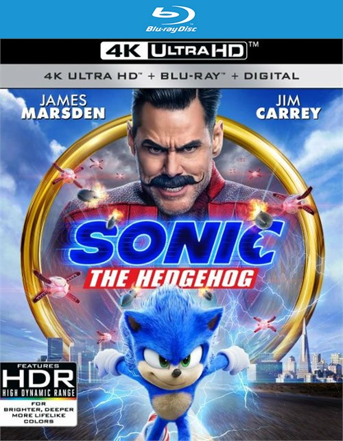 Sonic The Hedgehog Movie (Blu-ray/4K-UHD/Digital/2-Disc)