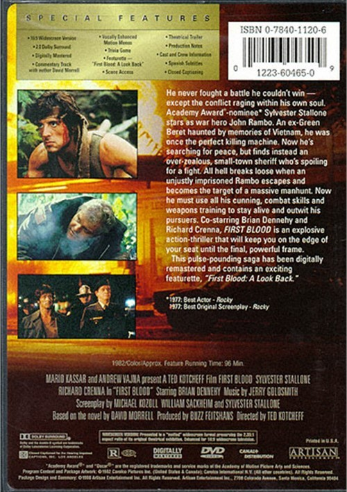 Rambo First Blood Dvd 1982 Dvd Empire