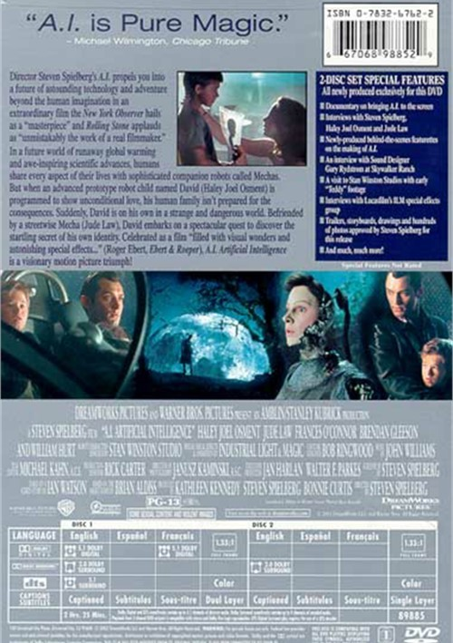 Ai Artificial Intelligence Fullscreen Dvd 2001  Dvd -5718