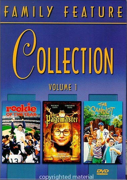 family features collection  rookie   year  pagemaster  sandlot dvd  dvd