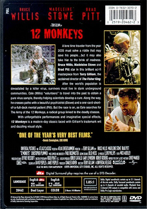 12 Monkeys Dts Dvd 1996 Dvd Empire