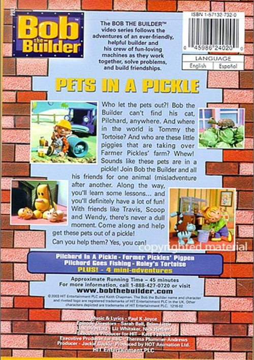 bob the builder pets in a pickle dvd 2003 dvd empire. Black Bedroom Furniture Sets. Home Design Ideas