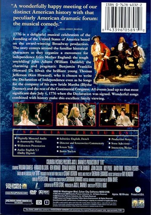 1776 Restored Director S Cut Dvd 1972 Dvd Empire