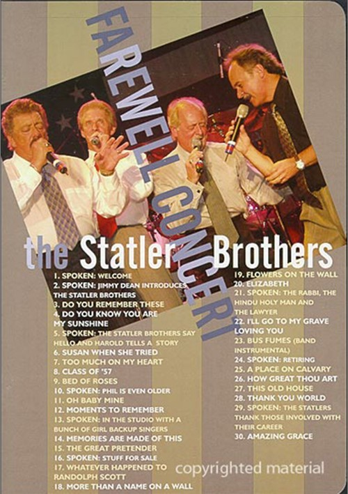 Statler Brothers, The: Farewell Concert