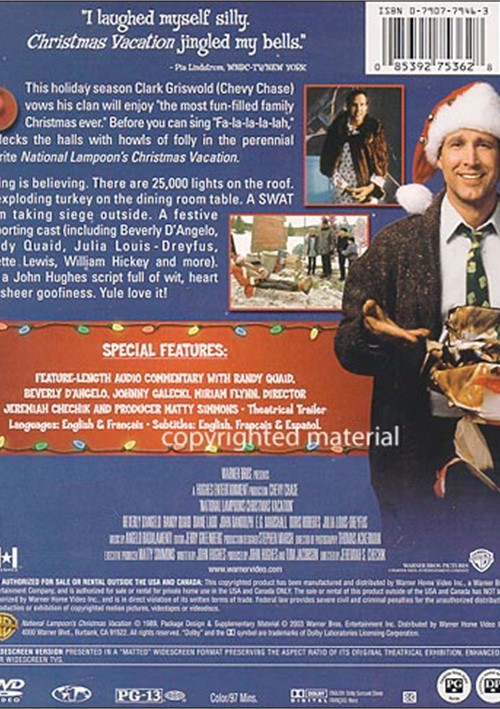 Christmas Vacation Movie Cover: National Lampoon's Christmas Vacation: Special Edition