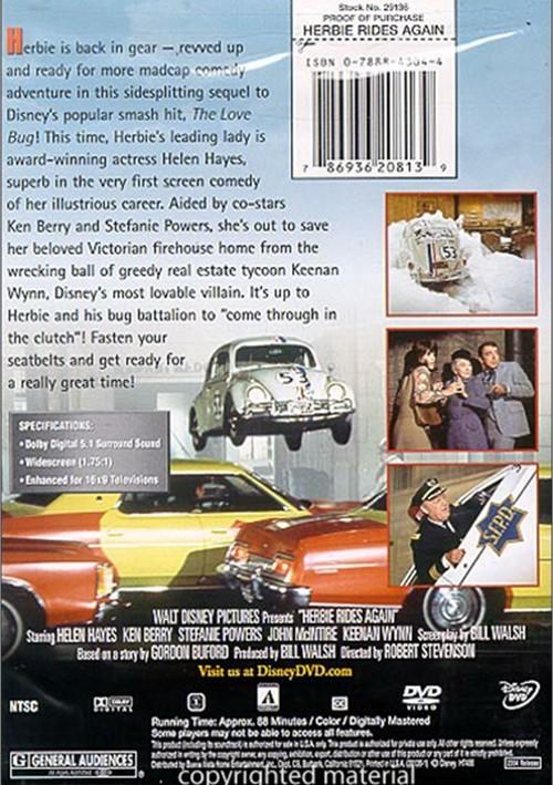 Herbie Rides Again (DVD 1974) | DVD Empire