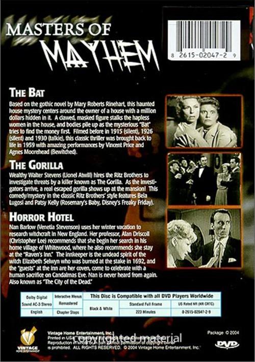 vintage movie classics masters of mayhem dvd 2003 dvd