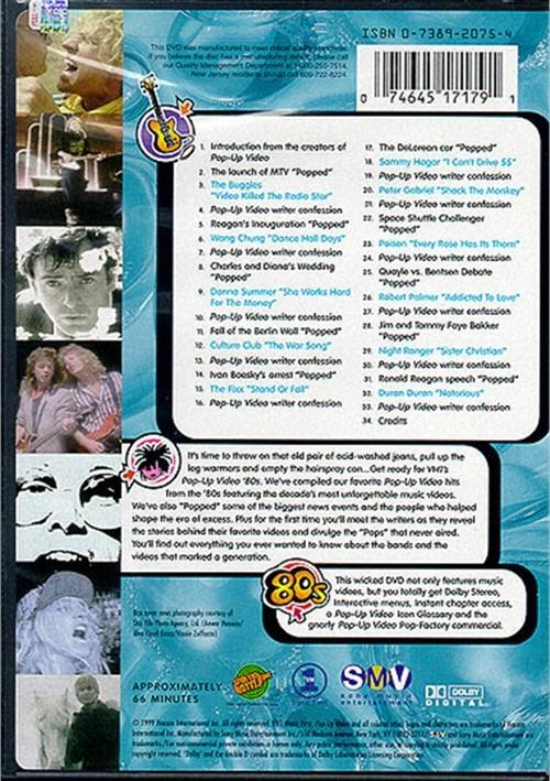 VH1 Pop-Up Videos 80's (DVD 1999)   DVD Empire