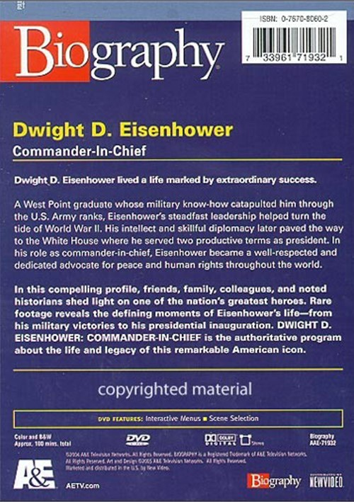 "the biography of dwight eisenhower Dwight d eisenhower entered the white house to end ""communism, korea, and  corruption"" previously, he commanded allied forces on d-day."