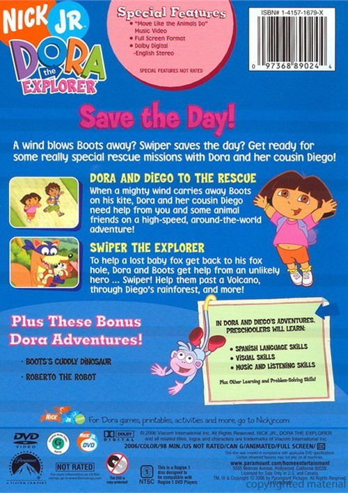 Dora The Explorer: Save The Day! (DVD 2006) | DVD Empire