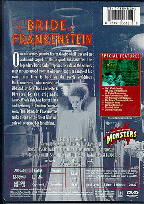 bride of frankenstein dvd 1936 dvd empire