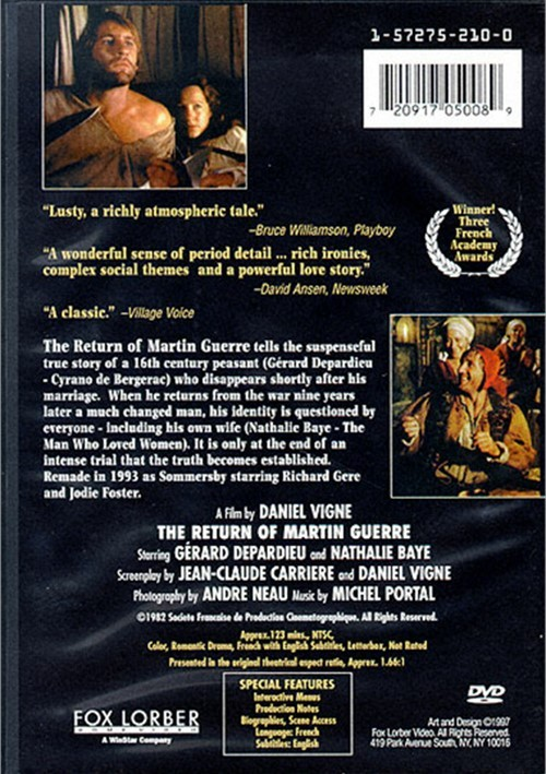 return of martin guerre Watch the return of martin guerre full movie online the return of martin guerre is set in france during the hundred years' war imagining.