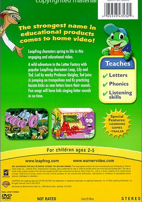 leapfrog letter factory dvd leap frog letter factory dvd 2003 dvd empire 22719