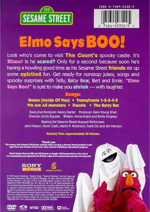 elmo says boo dvd Sesame street elmo says boo sesame street elmo says boo 123 sesame street home video elmo says boo & the best of elmo australian dvd - duration: 58:27.