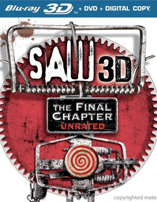 Saw 3D: The Final Chapter - Unrated (Blu-ray 3D + DVD + Digital Copy) Blu-ray