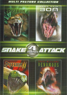4 Film Pack: Snake Attack Movie