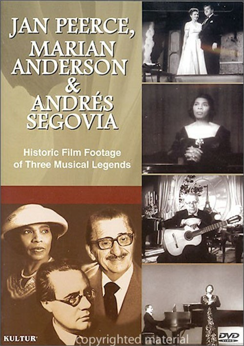 Jan Peerce, Marian Anderson & Andres Segovia Movie
