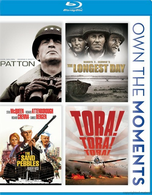 Patton / The Longest Day / The Sand Pebbles / Tora! Tora! Tora! Blu-ray