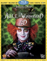 Alice In Wonderland 3D (Blu-ray 3D + Blu-ray + DVD + Digital Copy) Blu-ray