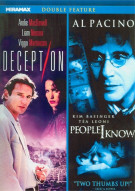 Deception / People I Know (Double Feature) Movie