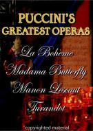 Puccinis Greatest Operas: Box Set Movie