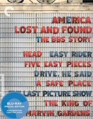 America Lost And Found: The BBS Story - The Criterion Collection Blu-ray